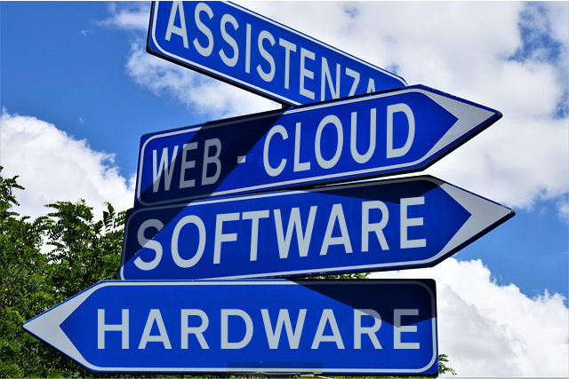 Assistenza, web cloud, software, hardware
